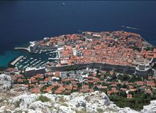 Dubrovnik, Croatia - old town bird's eye view Royalty Free Stock Photo