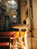 Dubrovnik, Croatia, old town, photography inside church. Royalty Free Stock Photography