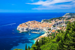Dubrovnik, Croatia. Panoramic view of the Old Town of Dubrovnik, Croatia Stock Photography