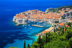 Dubrovnik, Croatia. Panoramic view of the Old Town of Dubrovnik, Croatia Royalty Free Stock Photos