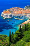 Dubrovnik, Croatia. Panoramic view of the Old Town of Dubrovnik, Croatia Royalty Free Stock Image