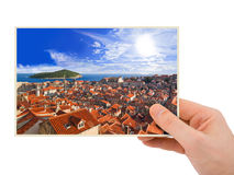 Dubrovnik (Croatia) photography in hand Royalty Free Stock Photo