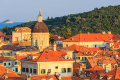 Dubrovnik, Croatia. Roof tops of the old town and the island of Lokrum in the background, Dubrovnik Croatia Royalty Free Stock Images