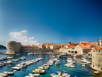 Dubrovnik in Croatia, Scenic view on city walls Royalty Free Stock Images