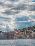 Dubrovnik in Croatia, Scenic view on city walls Stock Photos