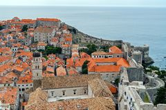 Dubrovnik Old Town roofs and walls - Croatia royalty free stock images