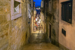 DUBROVNIK, CROATIA - SEPTEMBER 08, 2013 - Stairs leading down Royalty Free Stock Photography
