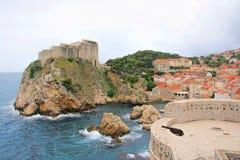 Dubrovnik Croatia. Fort in city of Dubrovnik, Croatia on the Adriatic Sea Stock Photography
