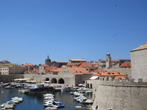 Dubrovnik, Croatia. The southerly entrance and harbour of Dubrovnik city in Croatia Royalty Free Stock Photo