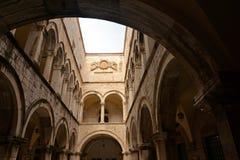 Dubrovnik croatia Sponza pałac wewnętrzny sąd Zdjęcia Royalty Free