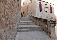 Dubrovnik, Croatia, stairs and historic buildings the old city Stock Photos
