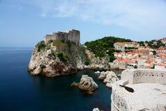 Dubrovnik croatia starego miasta. Obraz Stock