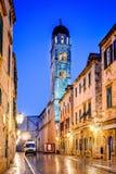 Dubrovnik, Croatia - Stradum, night view royalty free stock photos