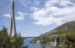 Dubrovnik Croatia A suspension bridge over the Dubrovnik River Royalty Free Stock Photo