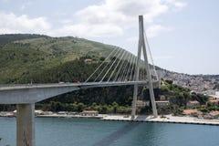 Dubrovnik Croatia A suspension bridge over the Dubrovnik River Stock Image