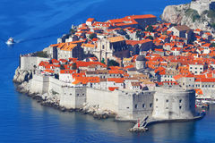 Dubrovnik.Croatia.Top view. Sights of medieval Europe on the Mediterranean sea Stock Photos