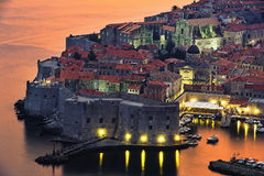 Dubrovnik in Croatia. View of an old city of Dubrovnik, Croatia stock photo