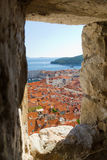 Dubrovnik, Croatia Viewed Through Old City Wals Royalty Free Stock Photos