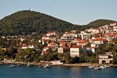 Dubrovnik, Croatia, visto del mar Imagen de archivo