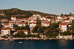 Dubrovnik, Croatia, visto del mar Imagen de archivo libre de regalías