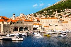 Dubrovnik croatia Widok port Stary miasto Obrazy Stock