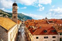 Dubrovnik croatia Widok z lotu ptaka Stary forteca Fotografia Stock