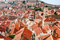 Dubrovnik croatia Widok z lotu ptaka Stary Forteczny Dubrovnik Fotografia Stock