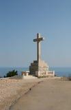 Dubrovnik Cross on Srd hill Stock Photography