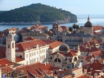 Dubrovnik-Dächer lizenzfreie stockfotos