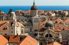 Dubrovnik-Dachspitzen Stockfotografie