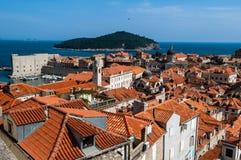 Dubrovnik-Dachspitzen Stockbilder
