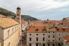 Dubrovnik-Dachspitzen Stockfotos