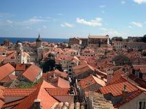 Dubrovnik-Dachspitzen - Kroatien lizenzfreies stockbild