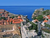 Dubrovnik dalla torretta Fotografia Stock Libera da Diritti