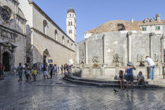 Dubrovnik, dalmatia, croatia, europe, the greatest fountain of onofrio Royalty Free Stock Images