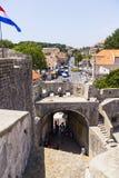 Dubrovnik - de parel van de Adriatische kust Stock Foto