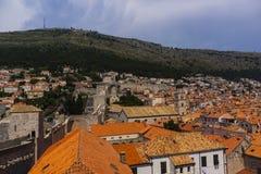 Dubrovnik - de parel van de Adriatische kust Stock Foto's