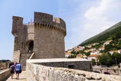 Dubrovnik - de parel van de Adriatische kust Royalty-vrije Stock Foto's