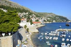 Dubrovnik-Docks Stockfotos