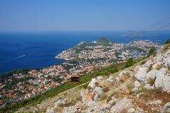 Dubrovnik-Drahtseilbahn Lizenzfreie Stockbilder