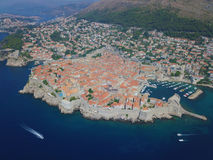 Dubrovnik by drone Royalty Free Stock Image