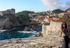 Dubrovnik durch das Meer Stockfotografie