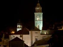 Dubrovnik em a noite fotografia de stock royalty free