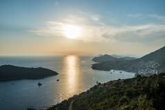 Dubrovnik en Croatie Photos libres de droits