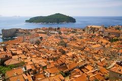 Dubrovnik en Lokrum Royalty-vrije Stock Afbeeldingen