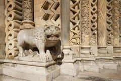 dubrovnik Escultura gótica del león Fotos de archivo
