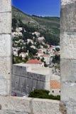 Dubrovnik fästningsikt Royaltyfri Foto
