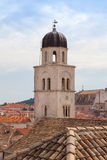 Dubrovnik famous clock tower in Luza Square Royalty Free Stock Image