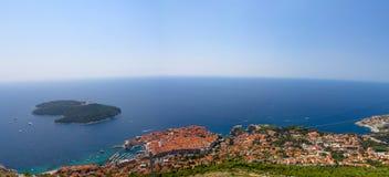 Dubrovnik flyg- sikt Arkivbild