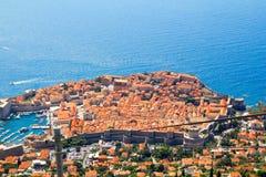 Dubrovnik flyg- sikt Arkivbilder